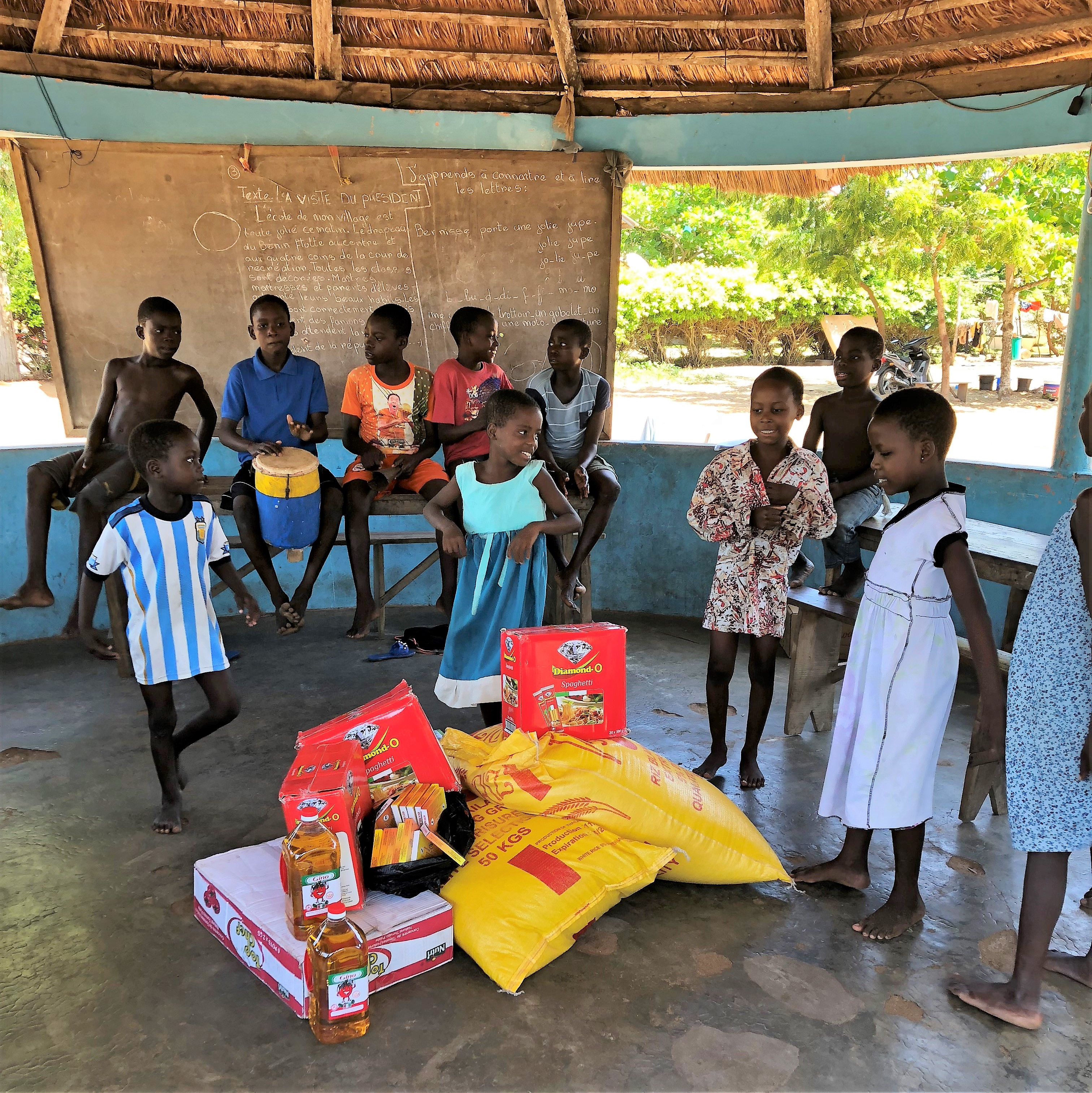 Scandinavian Biopharma Wishes Happy Holidays by donating food to an orphanage in Grand Popo, Benin!